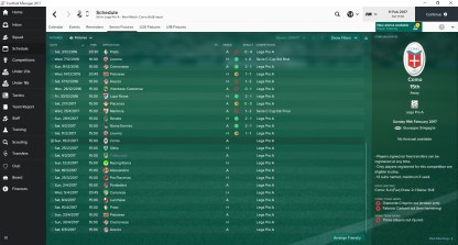My first game in charge was the 0-0 draw with Piacenza