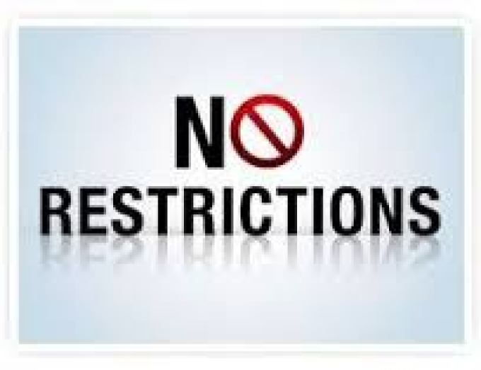 Image result for no restrictions