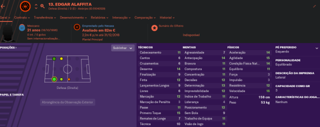 Craques do FM2019 - Edgar Alaffita