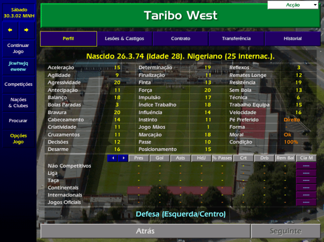 Lendas do Velhinho CM - Taribo West