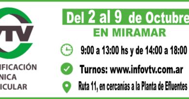 Llega la VTV a Miramar