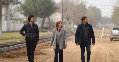La Costa: De Jesús recorrió trabajos integrales en Las Toninas