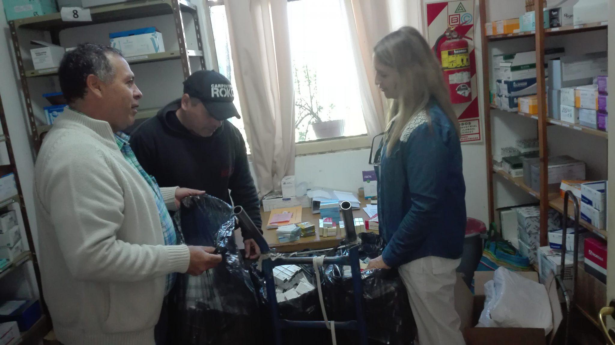 Audio. La organización Ceis de Lobos entregó los medicamentos al hospital.