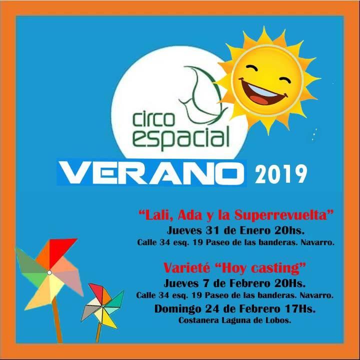 CIRCO ESPACIAL – FUNCIONES DE VERANO 2019