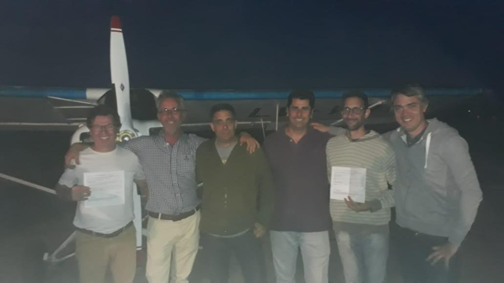 Egresaron los primeros pilotos del año de la escuela del AeroClub Fortín Lobos