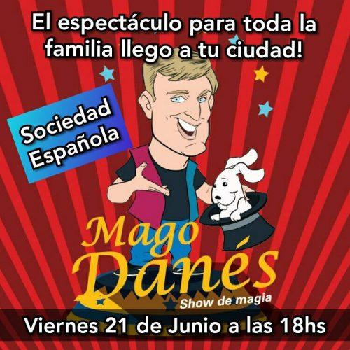 AUDIO. Mago Danés en la Sociedad Española el Viernes 21 de junio, 18 hs.