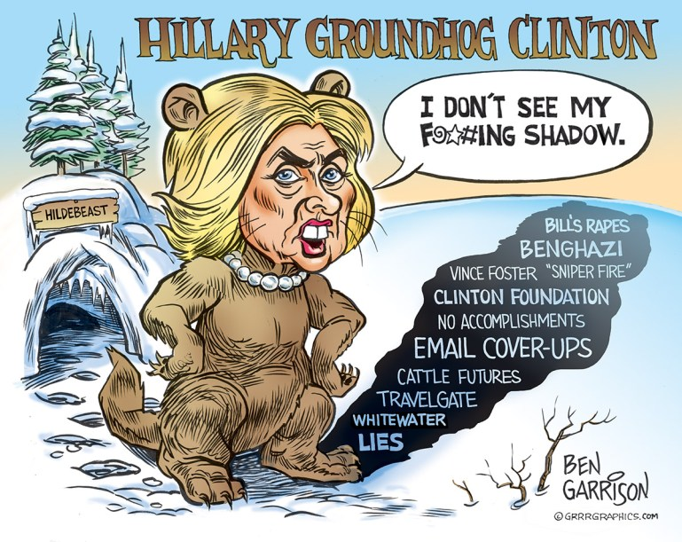 Hillary's Shadow - by Ben Garrison