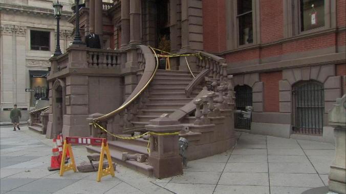 union-league-railing-smashed