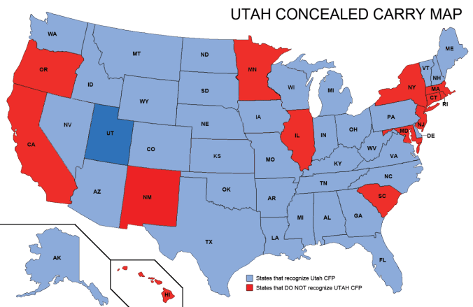 National Concealed Carry Reciprocity Is It Finally Possible - Us concealed carry reciprocity map