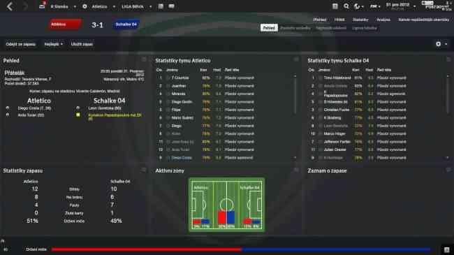 Slamka17 (Atletico) vs staridedo (Schalke) - 3:1