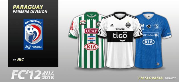 Football Manager 2018 Kits - FC'12 Paraguay Copa Tigo Vision Banco 2017