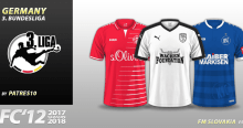 FC'12 Germany 3. Bundesliga 2017/18 kits