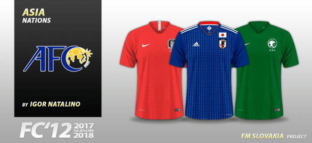 Football Manager 2018 Kits - FC'12 Nations – Asia [World Cup edition]
