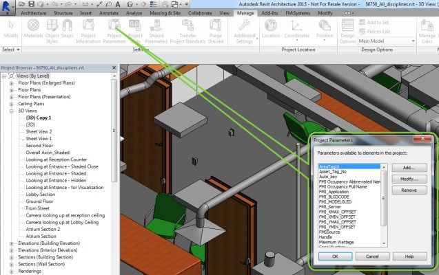 Revit Shared Parameters for Facilities Management