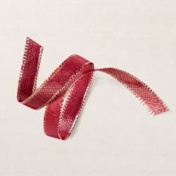 Cherry Cobbler & Gold 1/2'' (1.3 Cm) Metallic Ribbon