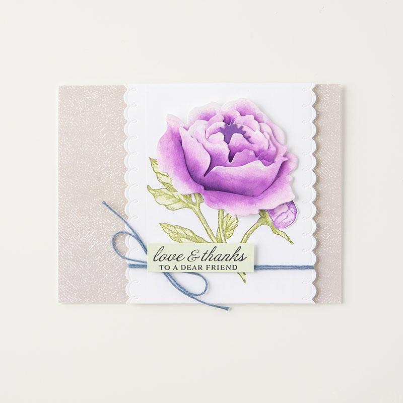 Watercolored Peony Card