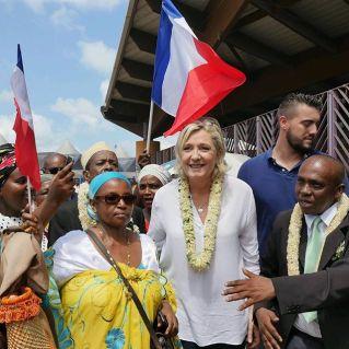 A Mayotte où elle a reçu un accueil extrêmement chaleureux !