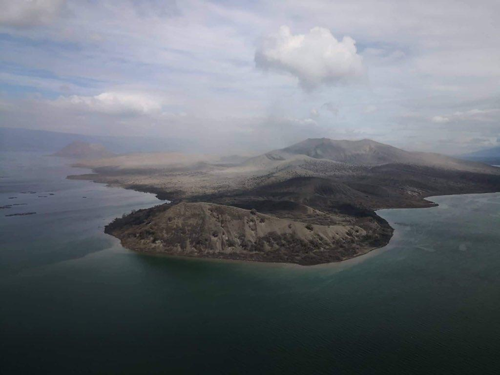 The crater laker of Mount Taal has already dried up due to volcanic activity underground
