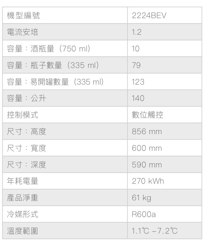 U-Line 2224BEV 啤酒飲料櫃的產品規格