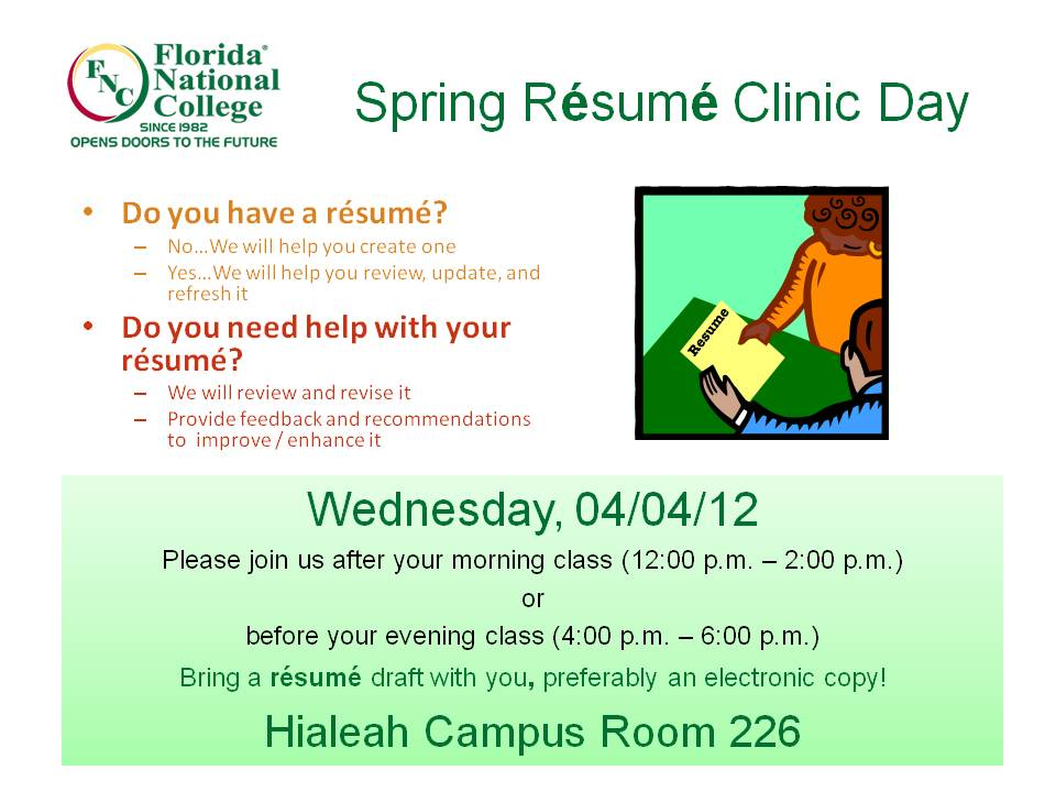 Free R Sum Clinic For Job Seekers Saint Francis Of Assisi Resume