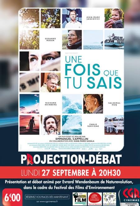 Lundi 27/09 Ciné-débat «Une fois que tu sais» à Montauban