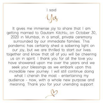 gautam kitchlu kajal aggarwal marriage date