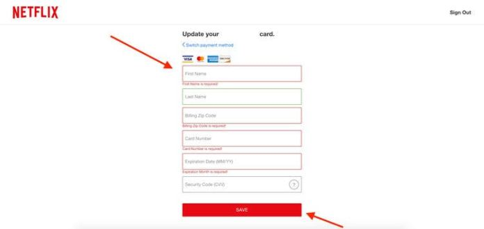 Netflix not accepting debit card accepted accept payment