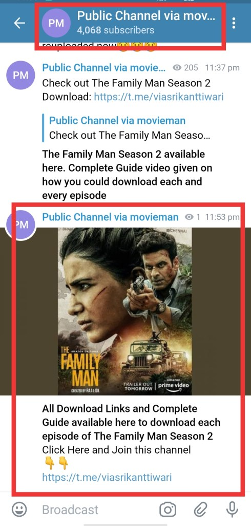 The Family Man Season 2 Telegram Link to download for free in 480p, 720p and 1080p