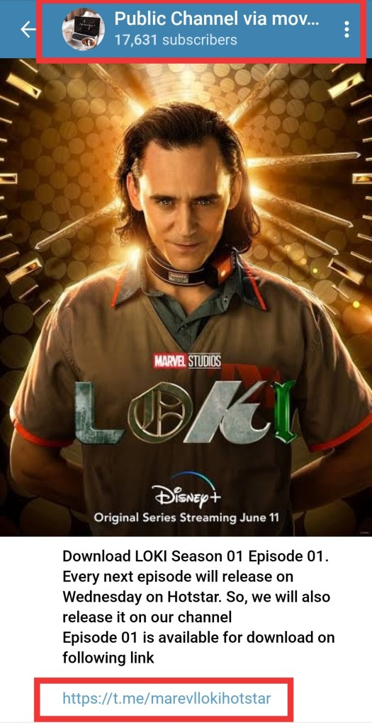 Loki web series Telegram Link to download for free with 480p, 720p and 1080p