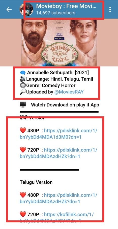 annabelle sethupathi telegram channel link tamil telugu hindi