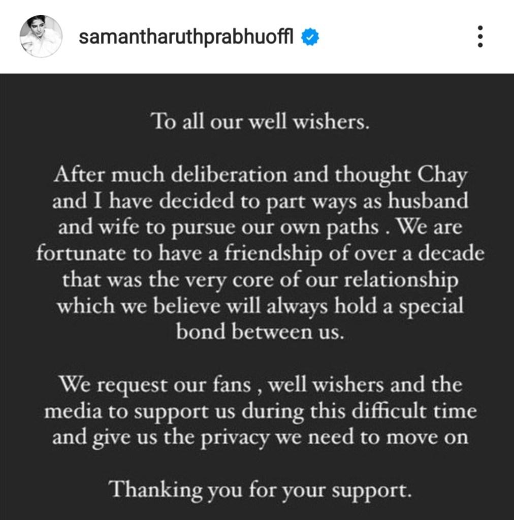 Why Samantha Prabhu divorced Chay Naga Chaitanya