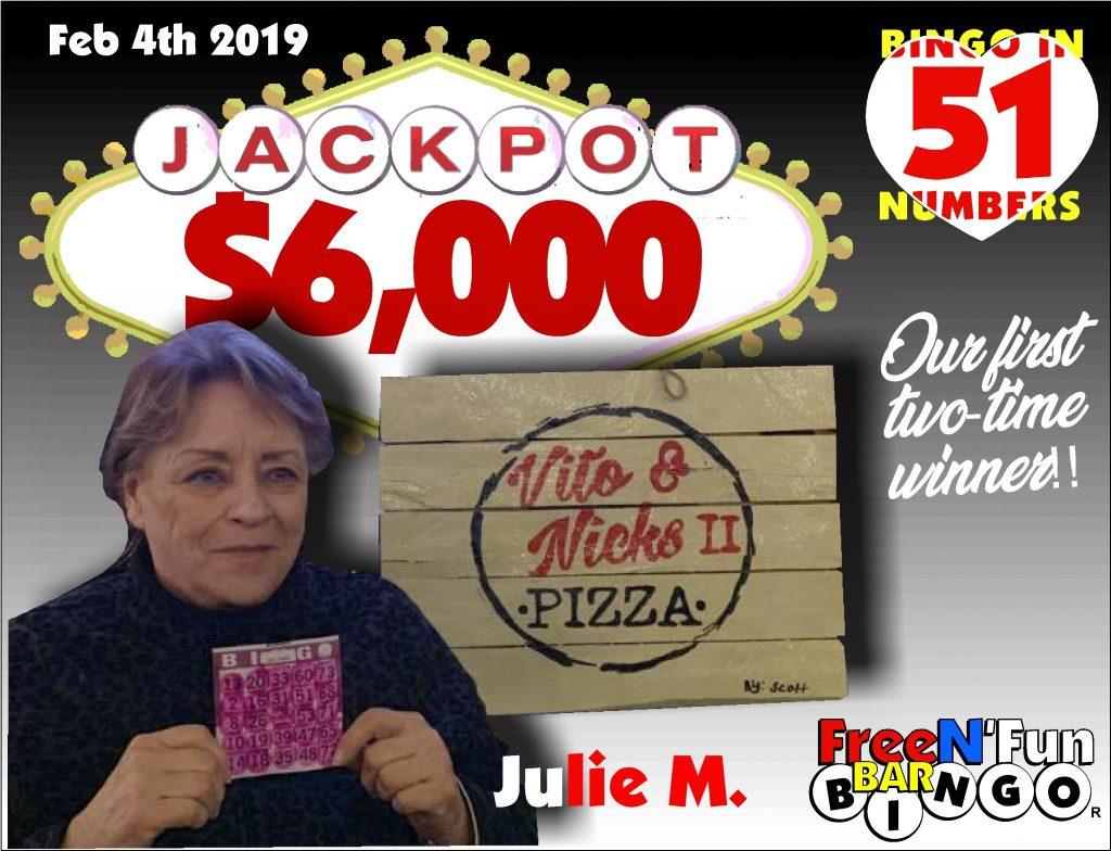 Jackpot Winner 2019 Julie