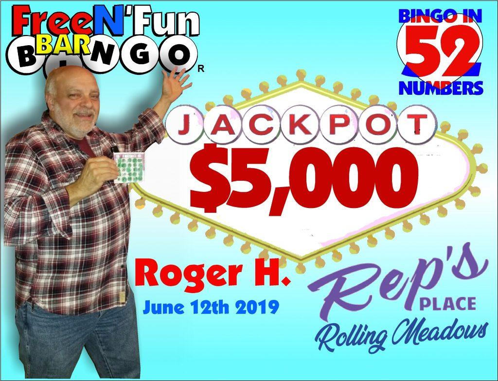 Jackpot Winner 2019 Roger