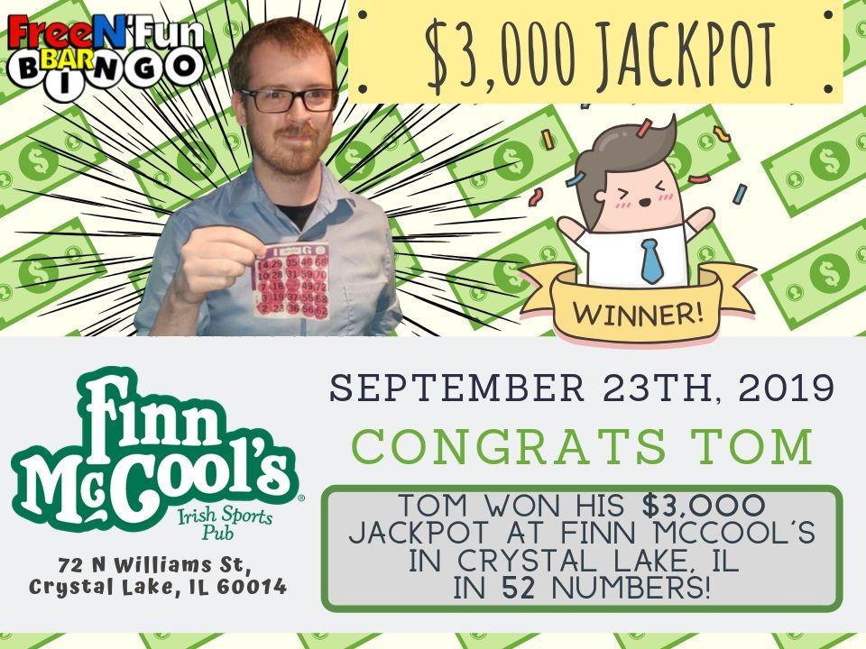 Jackpot Winner 2019 Thomas