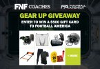 FNF Coaches Football America Gear Up Giveaway