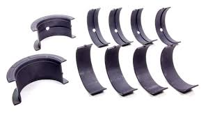 Main bearing set coated with dry-film lubrication coating, performed by FNG Precision's Engine Components Coating Services