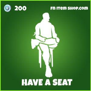 Have a seat uncommon fortnite emote