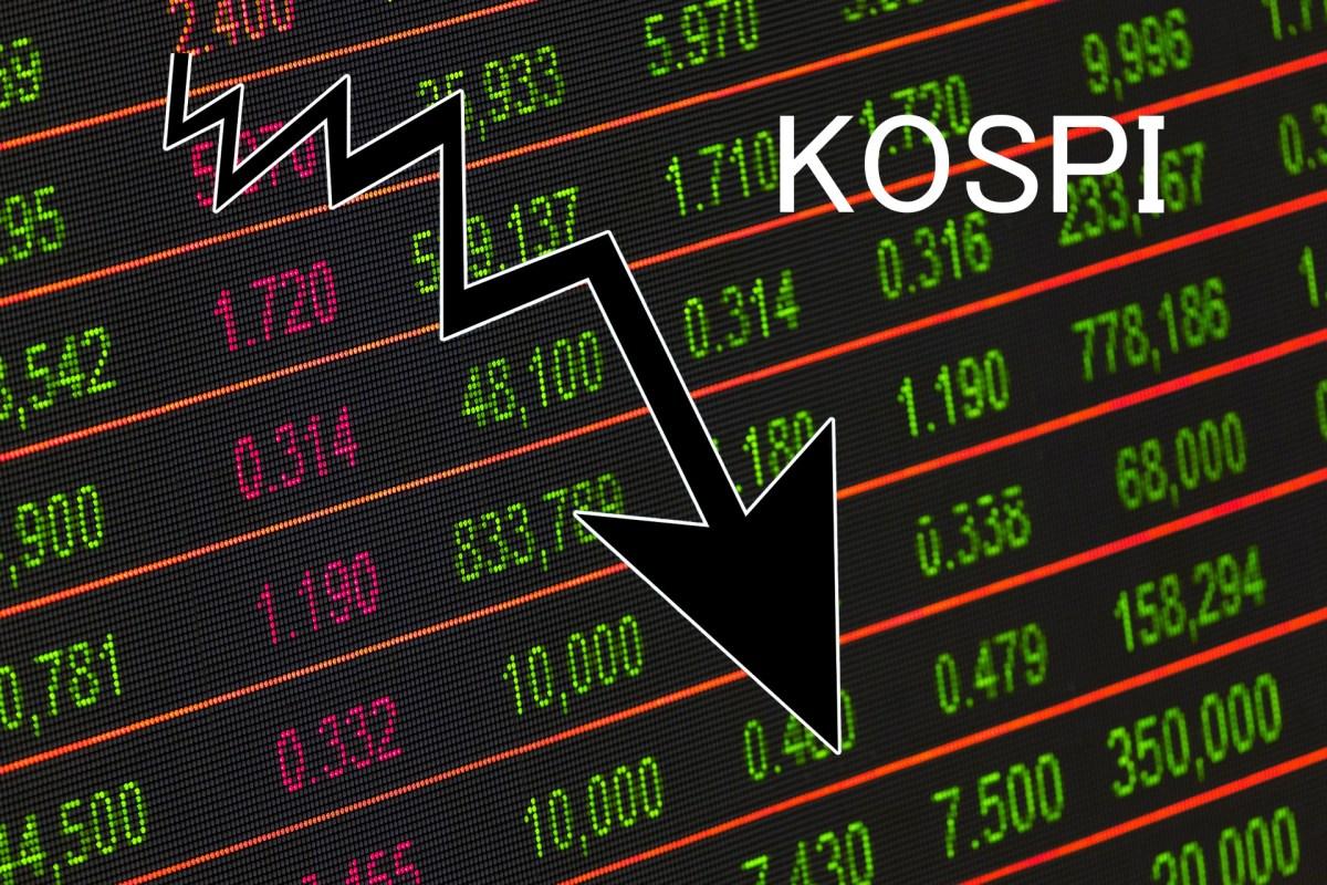韓国株14日午前、コスピ急下落…米消費鈍化への懸念で1.5%安記録中
