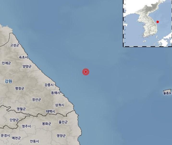韓国東部で地震発生… 震度4.3