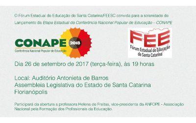 [SC] Carta-manifesto do Fórum Estadual de Educação de Santa Catarina