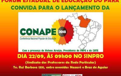 [PA] Lançamento da CONAPE 2018 no estado do Pará