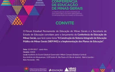 [BH] Lançamento da Conferência de Educação de Minas Gerais