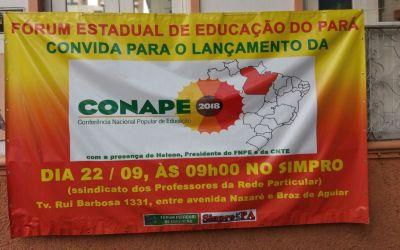 [PA] Lançamento da Conape no Pará e calendário dos fóruns intermunicipais e estadual da educação