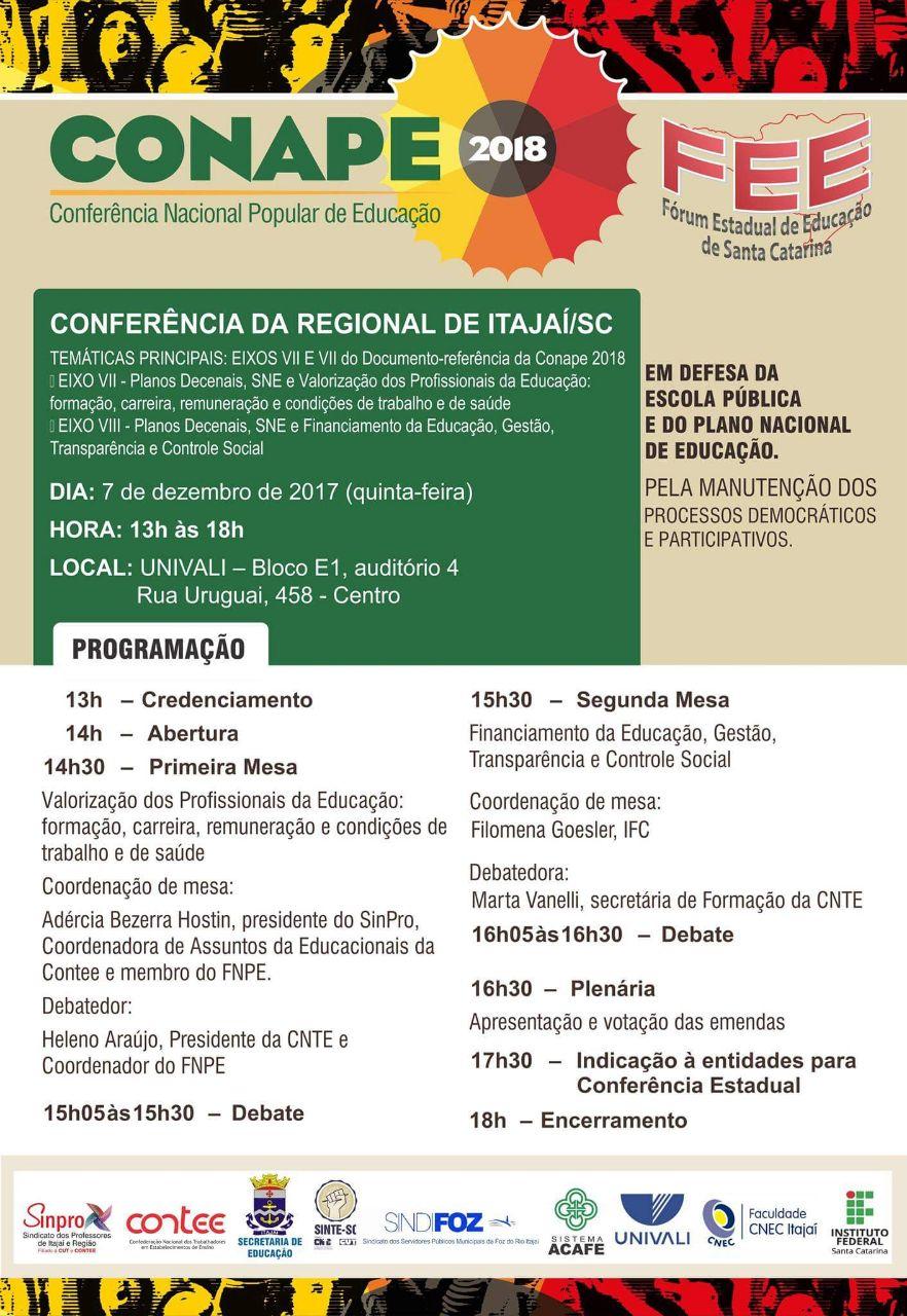 [SC] Conferência Regional de Itajaí