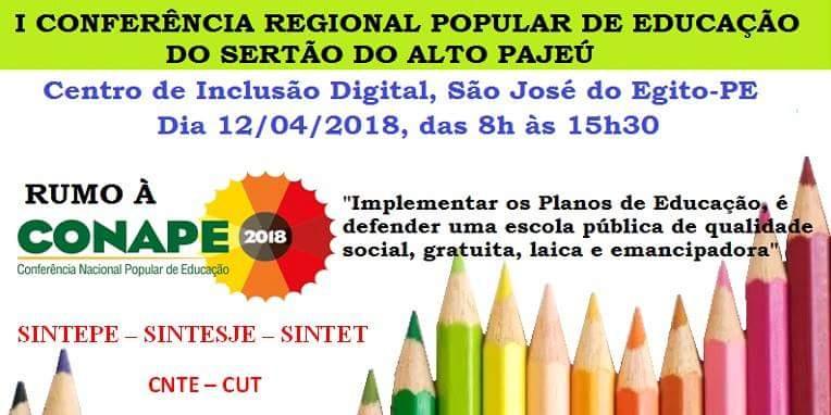 [PE] I Conferência Regional Popular de Educação do Sertão do Alto Pajeú