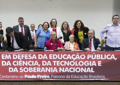Ato em defesa da educação pública, da ciência, da tecnologia e da soberania nacional. Auditório Nereu Ramos, Câmara dos Deputados, Brasília (DF)