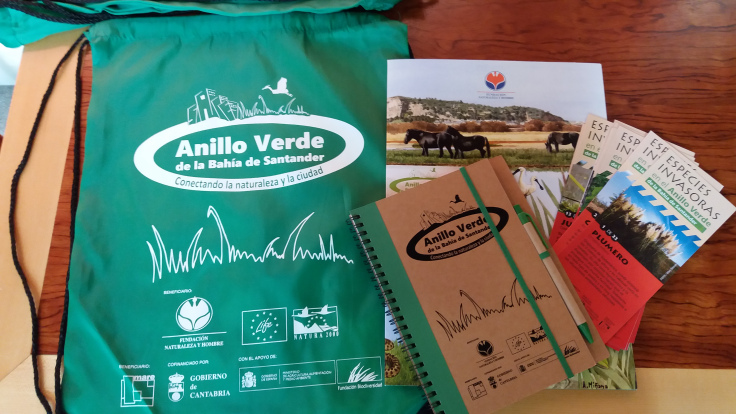 Algunos de los materiales dados a los participantes del Workshop Nature In The City