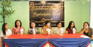 (From L-R) Lyka Bacang, Johanna Lerona, SLP RPC Elizabeth Saavedra, ARDO Consejo H. Usman, KC RPC Marilyn Fabian, 4Ps RITO Karen Ann Site and Lourdes Carumba during the Press Conference.