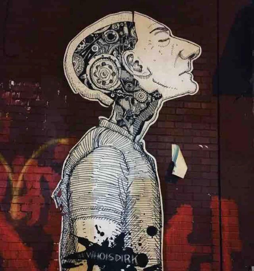 graffiti of a man in NYC