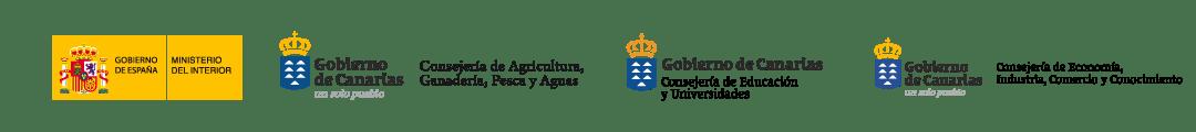 Logotipos certificación oficial de los cursos del Instituto Focan.Ministerio de España, Gobierno de Canarias.